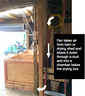 Airflow of walnut drying boxes
