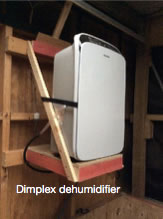 Dehumidifier in walnut drying shed