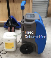 Hired dehumidifier - drying walnuts
